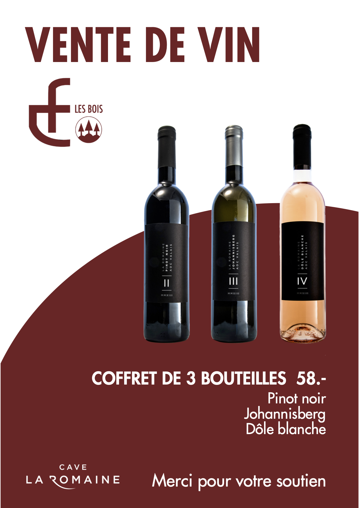 Vente de vin FCB flyer